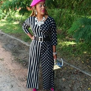 Polka dots and Stripes Jumpsuit